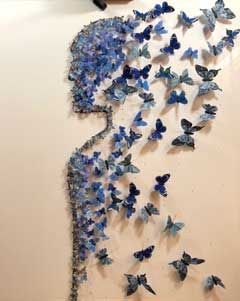 Butterfly Art Blue man